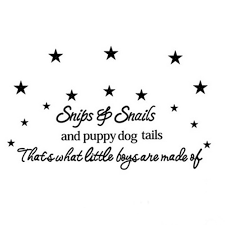 puppy dog tails star baby room wall stickers decal nursery decor