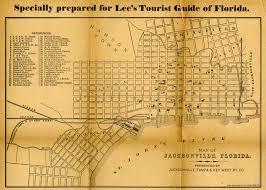 Jacksonville Map Florida Memory Tourist Map Of Jacksonville 1885