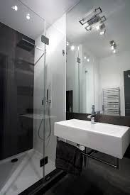 Minimalist Bathroom Design Apartment Minimalist Bathroom Design With Glass Door Plus Big
