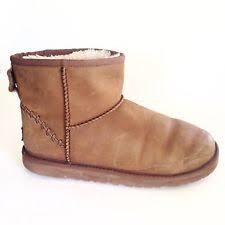 s ugg australia mini deco boots ugg australia leather winter us size 6 shoes for ebay