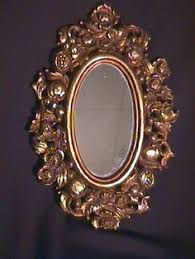home interior mirror vintage small syroco gold framed mirror by ellansrelics02 on etsy