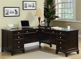 L Shaped Desk Left Return Home Office Executive L Shaped Desk In Rich Cappuccino Finish By