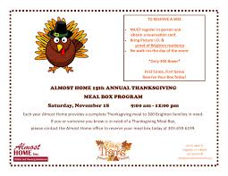 almost home hosts 15th annual thanksgiving meal box program yourhub