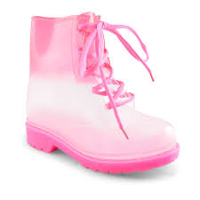 lace up biker boots ladies new kids girls lace up clear jellie wellington wellies ankle biker