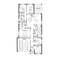 narrow house plan floor plan with rear garage narrow floor plans plan kitchen