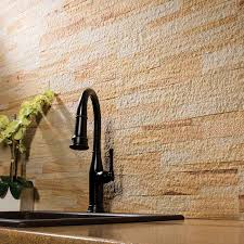 Aspect BacksplashStone Tile In Golden Sandstone - Backsplash stone tile