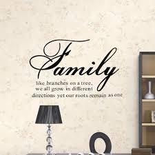 hot family like branches on a tree quote diretions motto art decal see larger image