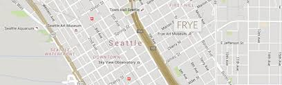 Seattle Map Downtown by Visit The Frye Frye Art Museum