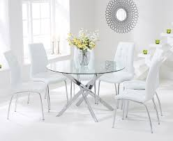 Glass Circular Dining Table Great Wonderful Glass Circle Dining Table 6 Seater Regarding