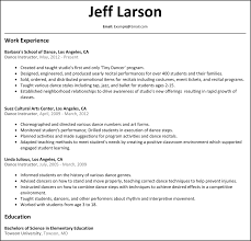 Elementary Education Resume Sample by 28 Dance Instructor Resume Sample Professional Teacher