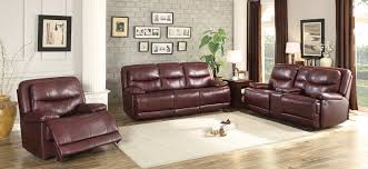 Burgundy Living Room Furniture by Homelegance Risco Reclining Sofa Set Burgundy 8599bgd Sofa Set