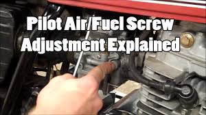 pilot air fuel adjustment explained youtube