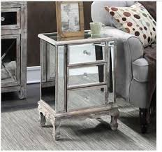 mirrored pyramid living room accent side end table mirrored end table ebay