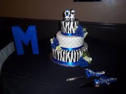 wedding cake royal blue fondant zebra wedding cake with royal blue accents thecakebaker