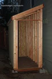 Free Outdoor Wood Shed Plans by Lean To Shed Plans With Roof Sheeting Installed The Fascia Trim