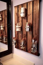 Pallet Bathroom Vanity by Skinny Meg Ball Jar Storage