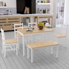 white table with bench dining table and bench set ebay