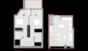 Two Bedroom Duplex Floor Plans Example 33 Greycoat Street