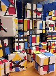 mondriaan kubussen knutselen met kinderen the artsy fartsy art