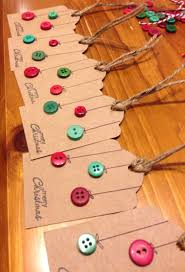 christmas gift tags button baubles simple and beautiful