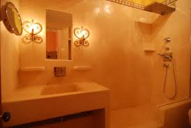 Orange Powder Room Tadelakt Is Stucco Italiano Tadelakt Pinterest