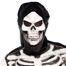 skeleton face for halloween mens grim reaper skeleton crypt keeper halloween fancy dress
