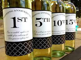 anniversary wine bottles diy printable wedding anniversary wine labels set of 4 labels