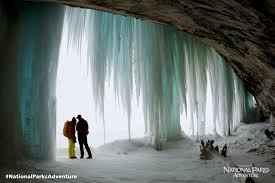 Michigan National Parks images Frozen waterfall in pictured rocks national lakeshore national jpg