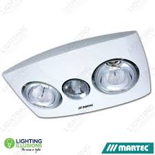 3 In 1 Bathroom Light White Martec Contour 2 Bathroom 3 In 1 Exhaust Fan With Light
