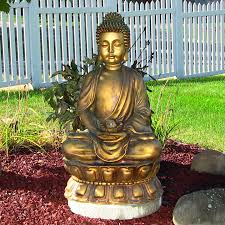 Outdoor Water Fountains With Lights Buddha Water Fountain With Light
