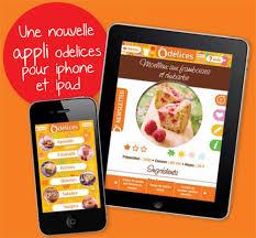 application cuisine iphone et pour le site odelices com sur l