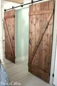 to make an easy sliding door