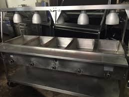 duke gas steam table used aerohot duke 5 well stainless steam table w warmers sneeze guard