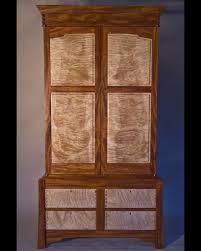 Tiger Maple Furniture Custom Made Curly Maple U0026 Mahogany Armoire By Corlis Woodworks