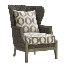 Ivory Accent Chair Lexington Oyster Bay Seaford Wicker Accent Chair In Gray And Ivory