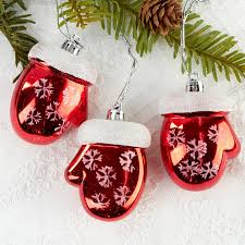 and white mitten ornaments ornaments