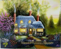 warm and cozy cottage painting by debra campbell