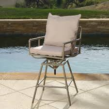adjustable outdoor bar stools northrup pipe outdoor adjustable barstool set of 2 walmart com