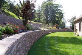 Average Cost Of Landscaping A Backyard Segmental Retaining Walls Long Lasting Wall