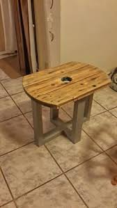 Cable Reel Table by A Coffee Table For Use As Interior And Garden Furniture With The