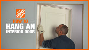 can you use an existing door for a barn door how to install an interior door the home depot