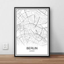 Wohnzimmer Berlin Karte Berlin Deutschland Stadtstraße Karte Drucken Poster Abstrakt