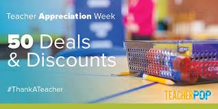 free stuff 50 appreciation week deals and discounts teach