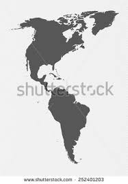 map of and south america black and white map south america blue on stock vector 160713800