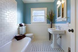 blue and beige bathroom painting your rental alternatives to builder s beige renting my