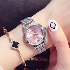 girl with bracelet images Gimto mini dress women watches silver brand quartz ladies watch jpg