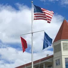 Flag Pole Wall Mount Single Mast Nautical Series Flagpole 20 Feet Tall