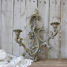 Gold Wall Sconces For Candles Best Shabby Chic Candle Wall Sconces Products On Wanelo