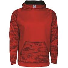 customize sleet hoodie red black