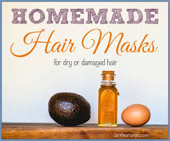 homemade hair masks recipes for dry or damaged hair